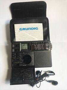 Grundig Traveler II 7 Band Travel radio Instructions Headphones Case New Battery
