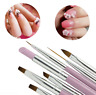 7Pcs Acrylic Nail Art Pen Tips UV Builder Gel Painting Brush Manicure Set Kit