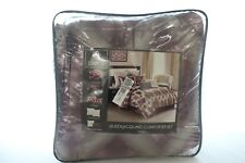 Idea Nuova Bedding Mystique Jacquard 7-PC Queen Comforter Set Purple $260 i481