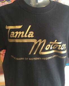 TAMLA MOTOWN - 1960's SOUL -  100% COTTON  T-SHIRT