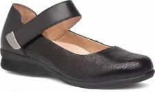 NEW DANSKO 'Audrey' Black Crackle Leather Mary Jane, Women Size 38 (7.5-8) $145