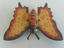 VINTAGE BUTTERFLY TIN TOY METAL RUBER FRICTION POWERED GERMANY GDR USSR ART DECO