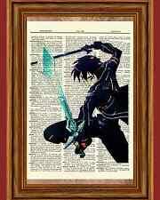 Sword Art Online Kirito Anime Dictionary Art Print Poster Picture SAO Manga