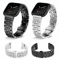 US For Fitbit Versa 2 Lite Metal Milanese Loop Strap Stainless Steel Wrist Band