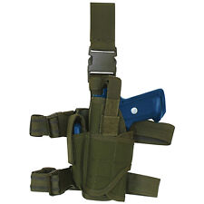 FOX Commando Tactical Drop Leg Holster - OLIVE DRAB OD GREEN - Left Handed LH
