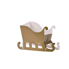 Pack of 12 - Christmas Santa Sleigh Favor Boxes - Xmas Table Top Decorations