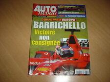 Auto hebdo N°1347 Corvette 50 Anniversary.Gp d'Europe