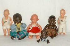 6 alte kleine Schildkröt Cellba Puppen Puppe dolls Püppchen Puppenstube poupee