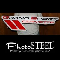 6 x 4 Tool Box Cross Flag 14 and Newer PhotoSTEEL COR15-6x4 C7 Corvette Crossed Flag Metal Magnet Emblem Art Size