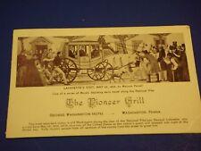 Pioneer Grill Lafayette's Visit George Washington Hotel PA Vintage Postcard PC6