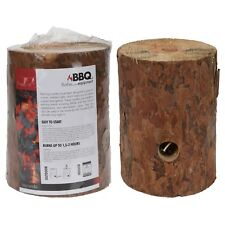 Swedish Fire Log Candle Wood Rustic Scented Camping BBQ Outdoor Torch 20cm