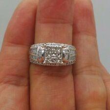 Stunning 10K Wg Ladies Diamond Cluster Engagement Ring 1.50 tcw Sz 7 G115469