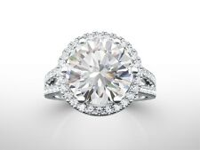 5.00 Carat Round Cut D SI1 REAL Diamond Solitaire Engagement Ring 14k White Gold