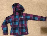 Dare2b Purple Blue Check Girls Hooded Bog Lining inside Winter Jacket  5-6 years