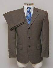 Mens 39S Oscar de la Renta 2 Piece Brown Birdseye 100% Wool Suit