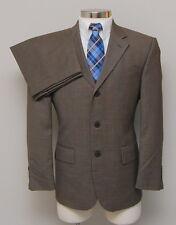 Mens 39S Oscar de la Renta 2 Piece Brown Birdseye 100% Wool Suit
