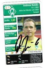 Andreas Reinke Quartettkarte 2005 Werder Bremen mit original Unterschrift !