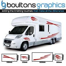 MOTORHOME STRIPES - Camper Van Horsebox Caravan Decals RV Stickers Graphics SS4