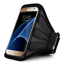 SumacLife Black Mesh Running Gym Sport Armband Case For Samsung Galaxy S9+ S8+