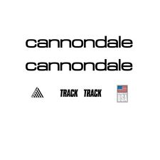 Cannondale Track Bicycle Decals-Transfers-Stickers, Black #12