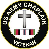 "Army Christian Chaplain Afghanistan Veteran 5.5"" Decal / Sticker"