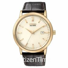 -NEW- Citizen Rose Gold Tone / Leather Band Eco-Drive Watch BM7193-07B
