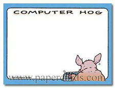 Computer Hog Funny Sticky Notes Post It Note Pad by Oatmeal Studios