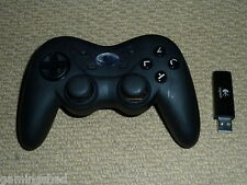 PLAYSTATION 3 PS3 LOGITECH CORDLESS PRECISION CONTROLLER Black Wireless Game Pad