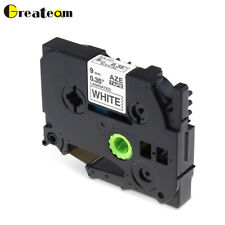 1 PK TZe 221 Compatible with Brother P-Touch 110 Laminated Label Tape White 9mm.