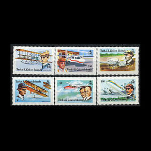 Turks & Caicos, Sc #347-52, MNH, 1978, Aviation, Wright Brothers, AR5RID-C