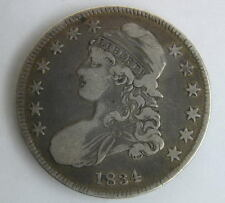 1834 US American Bust Capped Half Dollar 50 Cent Coin