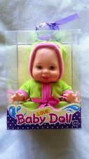 """new adventure plastic jointed baby doll 6"""" while setting blue eyes"""