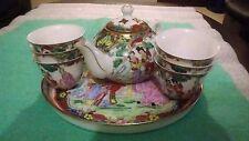 BELLA antica/vintage miniature Giappone porcellana tè set Dorati & dipinta a mano