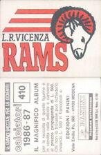 CALCIATORI PANINI1986/87*FIGURINA STICKER N.410*SCUDETTO IN RASO L.R.VICENZA*NEW