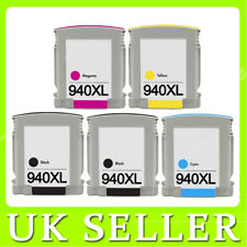 5 Pack Black&Colour Ink unbrand fits for HP 940XL Officejet Pro 8500A Plus e-AIO