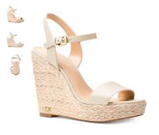 Michael Kors Jill Leather Wedge Light Cream Women's sizes 5-11/NEW!!!