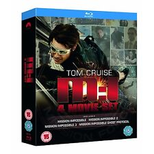 Mission Impossible 1-4 Movie Collection Blu-Ray Box Set NEW Free Ship