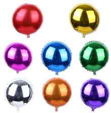 "10"" 18"" Round Solid Foil Balloon Helium Ball Baby Shower Graduation Party Pool"