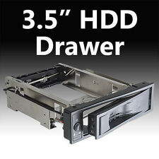 """5.25"""" Tray-Less SATA II Hot-Swap Hard for 3.5""""HDD Hard Disk off / on Button"""
