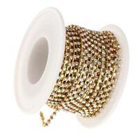 10m Rouleau de Cristal Strass Fermer Chaîne à Coudre Accessoire Art