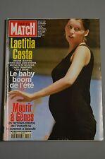 REVUE PARIS MATCH N°2723/2001 LAETITIA CASTA/MORT DE MORRIS LUCKY LUKE A11