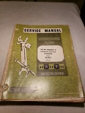 International Hough Td 25 Crawler Tractor Service Manual Iss 1518 1 1970