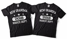 New Grandparents Gifts Baby Announcement Grandpa And Grandma Matching T-shirts