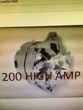 CHEVROLET GM CHROME CORVAIR SBC BBC CHEVY 1 WIRE ALTERNATOR HIGH OUTPUT 200 AMP