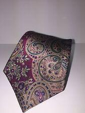 Mario Valentino 100% Italian Silk Men's Designer Neck Tie Paisley