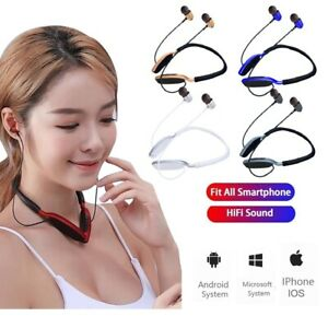 Bluetooth Neckband Headsets Wireless Earbud Earphone iN-Ear Headphones With Mic