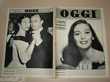 OGGI=1957/25=ANNAMARIA PIERANGELI=AMILCARE POLLINI=POMPEI=BETTINA GRAZIANI=