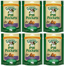 GREENIES PILL POCKETS DUCK & PEA ALLERGY FORMULA FOR DOGS 6 PACK  (6 X 2.6oz )