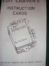 Instruction Cards - Tom Craven