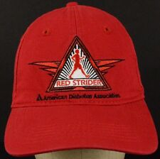 Red Strider American Diabetes Association Red Baseball Hat Cap and Cloth Strap